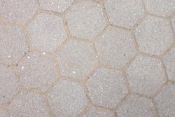 hexagonal paving blocks pattern and texture background