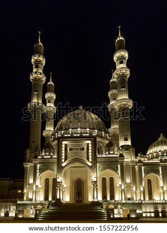 Heydar Mosque Lighting at night