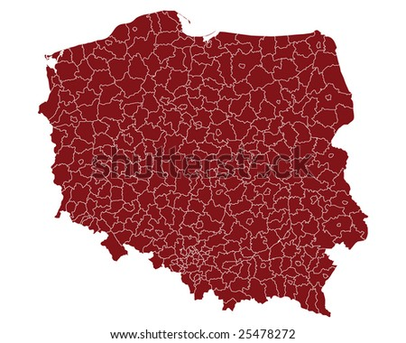 maps of poland. white map of poland with