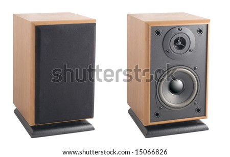 Hi-End Stereo Acoustic system (With Clipping Path)