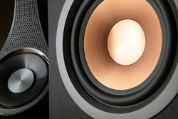 Hi fi audio stereo system loudspeakers.High quality sound system.Audio equipment for record studios.Meloman technique.