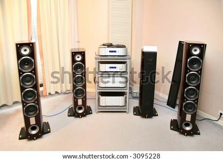 hi-fi music 3 - stock photo