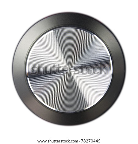 hi-fi speaker volume dial isolated on a white background