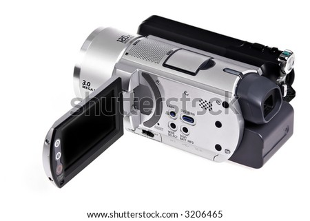 hi-res digital camcorder isolated