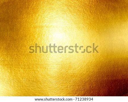 hi-res golden grunge background - stock photo