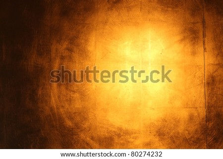 Hi-res golden wall background with reflection