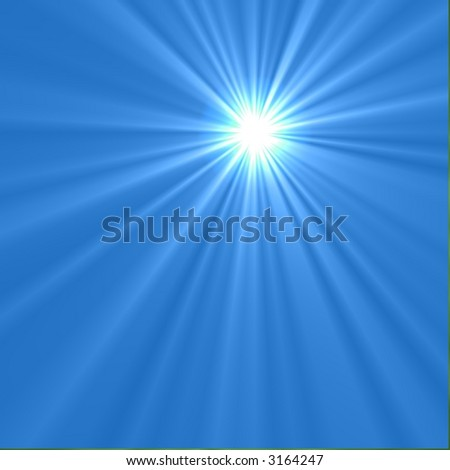 Hi-Res Light Beams on Blue