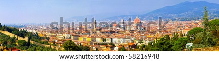 HI res 50 mega pixel Florence Tuscany panorama