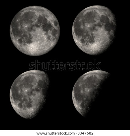 Hi-res moon phases