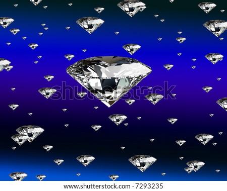 hi res rendering, diamond background Photo stock ©