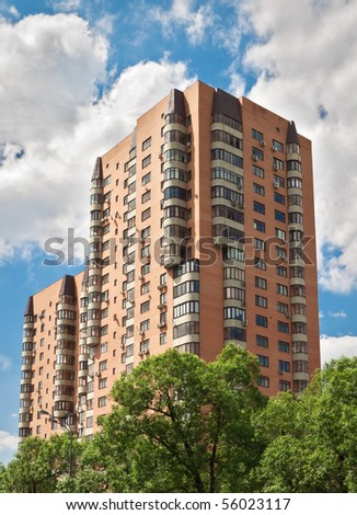 Hi-rise apartment building on Moscow street