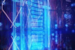 hi tech background blue blurred