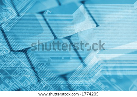 Hi tech background in sepia tone