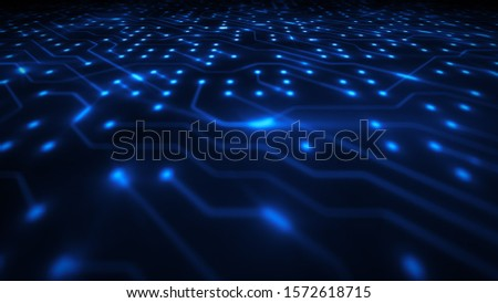 Hi-Tech Computer Chipset Background/ Illustration of an abstract technology background with electronics chipset circuit, including resistors, transistors and clusters Photo stock ©