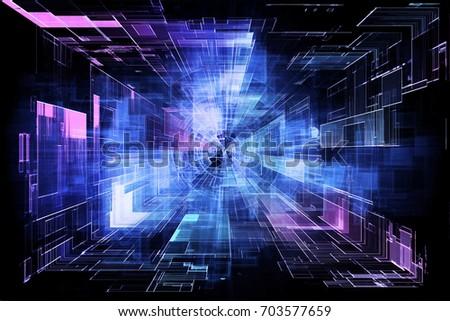 Hi tech laser technology background.