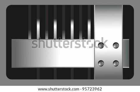 hi-tech metall backgrond - stock photo