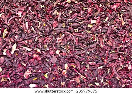 Hibiscus dry flower texture.