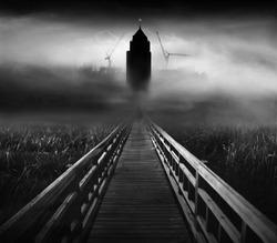 Hidden city (conceptual surreal style)