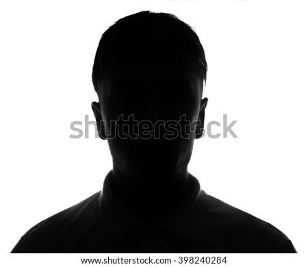 Hidden face in the shadow.male silhouette. #398240284