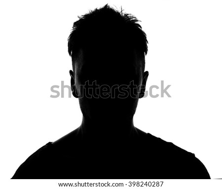 Hidden face in the shadow.male silhouette. #398240287