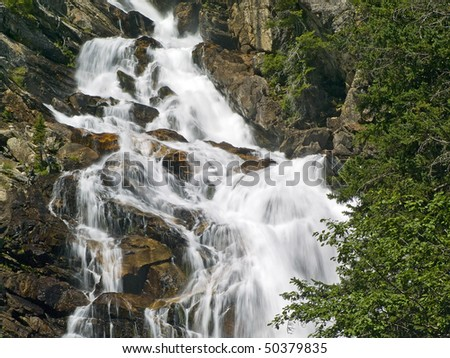 Hidden Falls in the Grand Teton Range, Grand Teton National Park, Wyoming