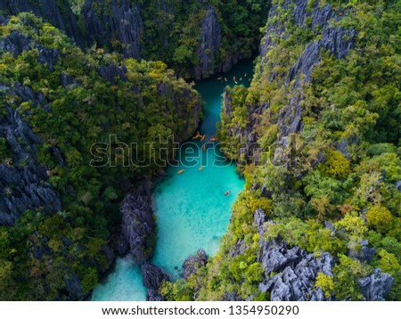 Hidden tropical paradise, El nido Philippines blue lagoon, small lagoon, big lagoon.  #1354950290
