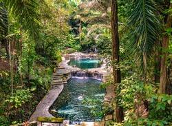 Hidden Valley Springs Laguna near Sto Tomas, Philippines