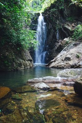 Hiden waterfall in Srilanka rathnapura