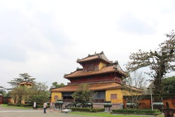 Hien Lam Pavilion (The Pavilion of the Glorious Coming) - one of the best preserved buildings in Hue Imperial City, Hue, Thua Thien Hue, Vietnam