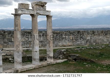 Hierapolis ancient Greek city in southwestern Anatolia Stock fotó ©