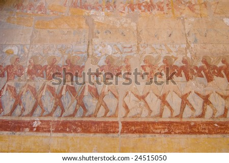 Hieroglyph of Egyptian soldiers