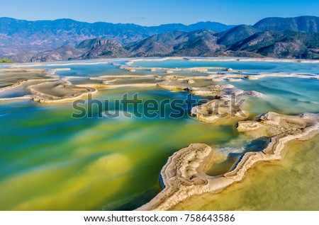Shutterstock Hierve el Agua, thermal spring in the Central Valleys of Oaxaca, Mexico
