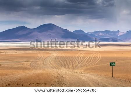 High Altiplano plateau, Eduardo Avaroa Andean Fauna National Reserve, Bolivia