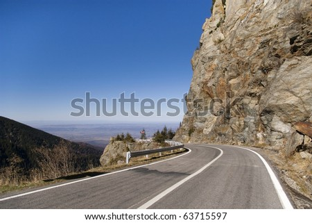 high altitude asphalt road in mountain