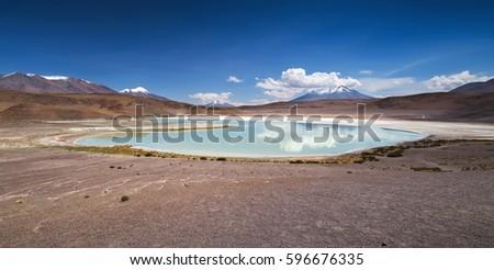 High-altitude lagoon on the plateau Altiplano, Eduardo Avaroa Andean Fauna National Reserve, Bolivia