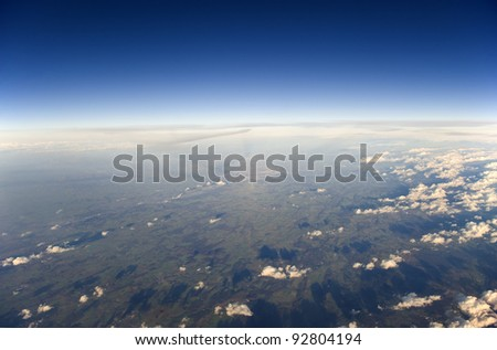 High altitude view of the Earth.