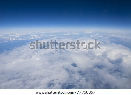 High altitude view of the Earth's surface