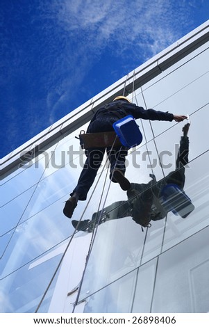 High altitude window washer