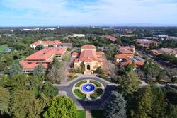 High angle shot of Stanford University, California, America