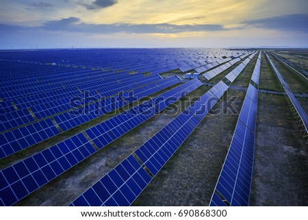 High angle solar photovoltaic partial map #690868300