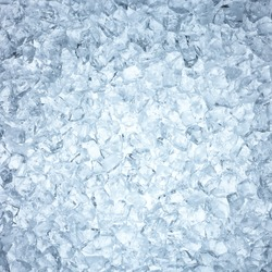 High angle view of heap of man made ice