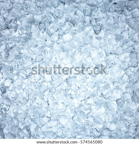 High angle view of heap of man made ice #574565080