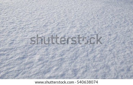 High angle view of snow texture. Winter background #540638074