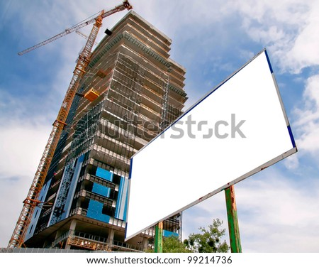 high building and big white board