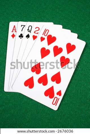 High card, the tenth highest ranked hand in Texas Hold'em.