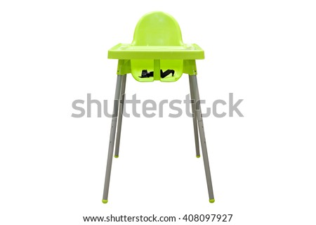 high chair. feeding chair isolated on white background Stock foto ©