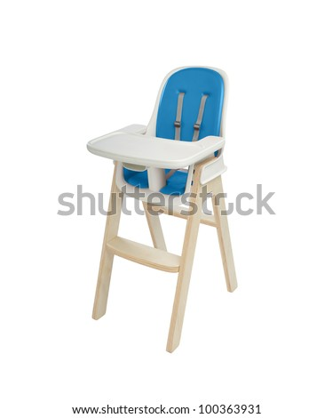high chair under the white background Stock foto ©