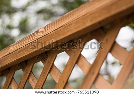 high crossing wooden fence