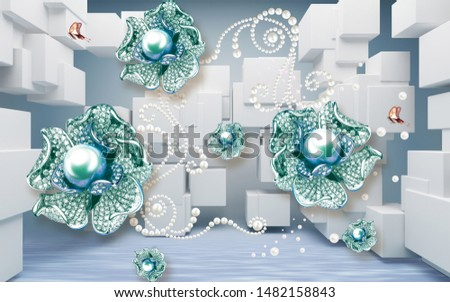 high decorative 3d wallpaper background