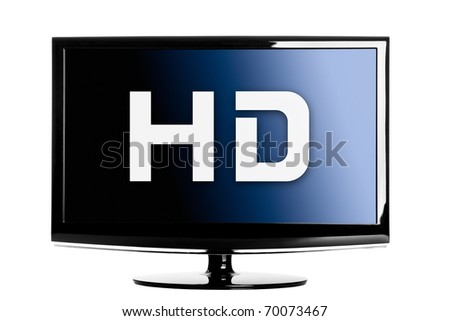 High definition lcd TV isolated over a white background.